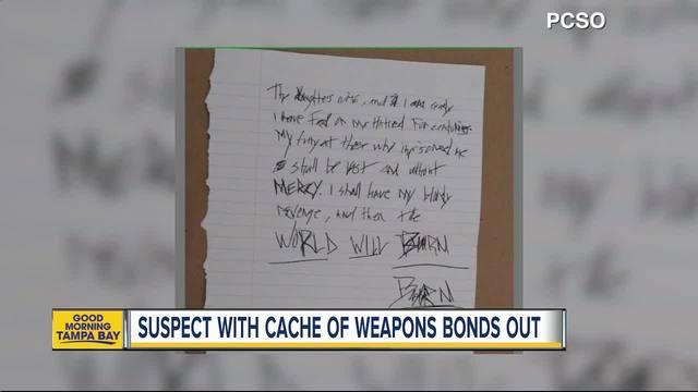 Dunedin man arrested after explosives- guns- school maps and more were…