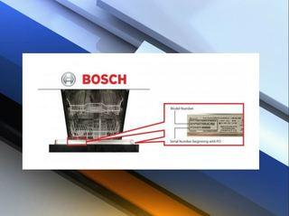BSH Home Appliance dishwasher recall