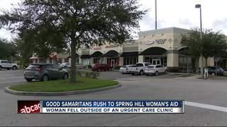 Strangers help woman who falls near urgent care