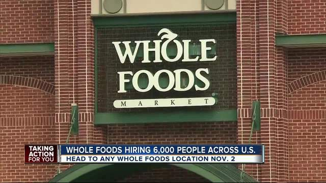 Whole Foods hiring 6000 workers nationwide