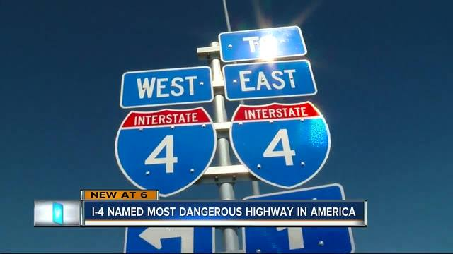 I-4 named the most dangerous highway in America