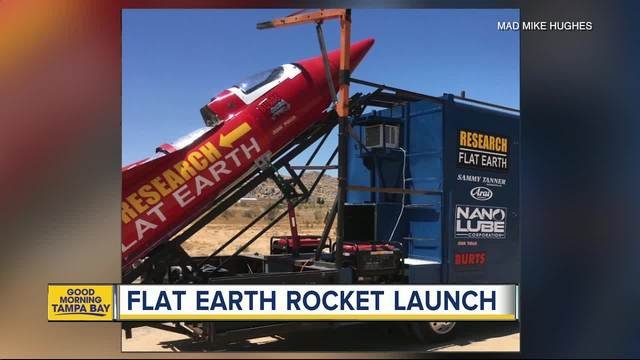 California man launching homemade rocket to prove Earth is flat