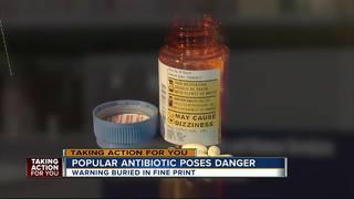 Side effect of antibiotic buried in fine print