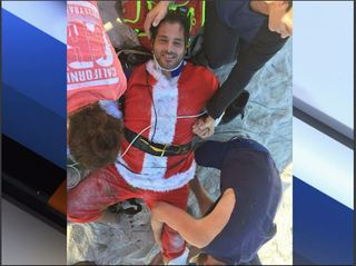 Skydiving Santa crashes on Fla. beach with elf