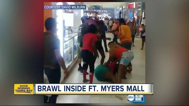 Toddler Caught in Middle of Wild Brawl in Fort Myers Mall