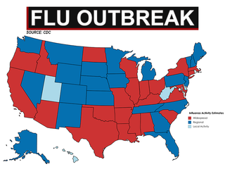 23 states showing widespread flu outbreaks