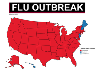 46 states reporting widespread flu outbreaks