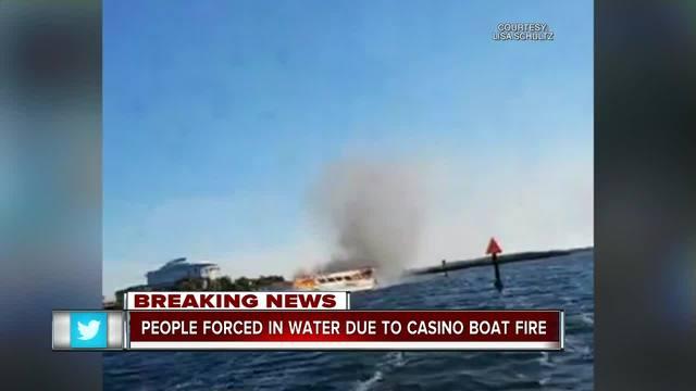 Casino boat catches fire in Port Richey