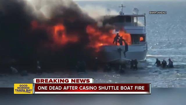 Fire burns Sun Cruz Casino shuttle with 50 people aboard