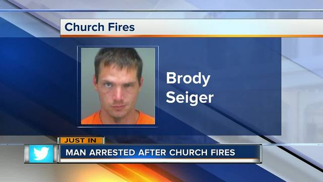 Man charged with arson in Seminole church fires