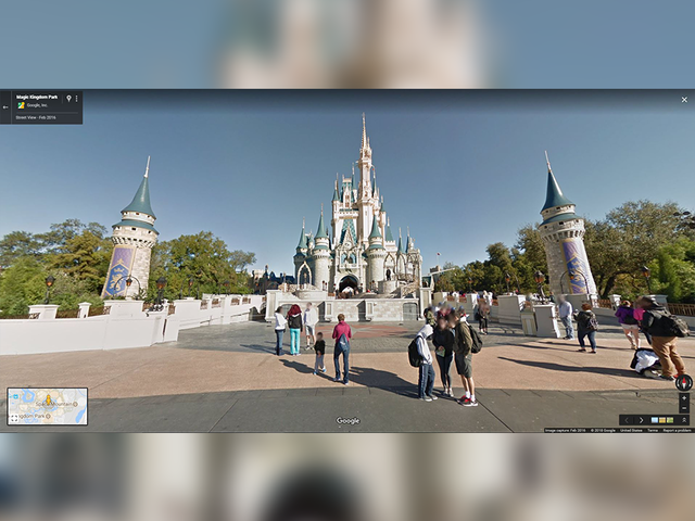 You can now visit Disney using Google street view