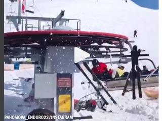 Video shows terrifying ski lift accident