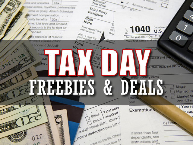 Tuesday is tax day and businesses are offering up specials and freebies