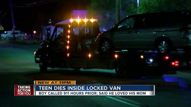 Federal agency monitoring death of teen trapped by van seat