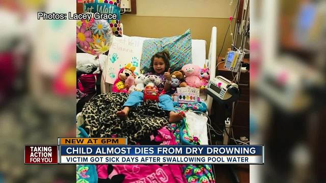 Child almost dies from dry drowning