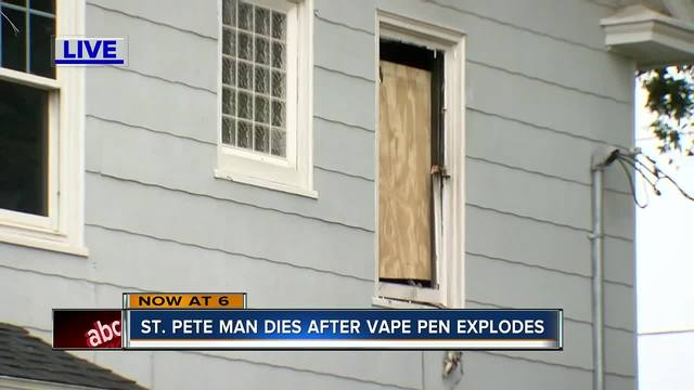 Authorities believe exploding vape pen led to man's death