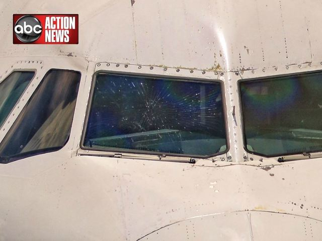 JetBlue plane makes emergency landing after cockpit window cracked