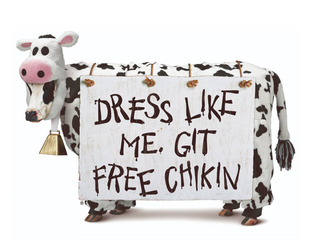 Free food on Cow Appreciation Day at Chick-fil-A