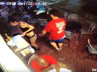Florida man slammed by waitress after groping