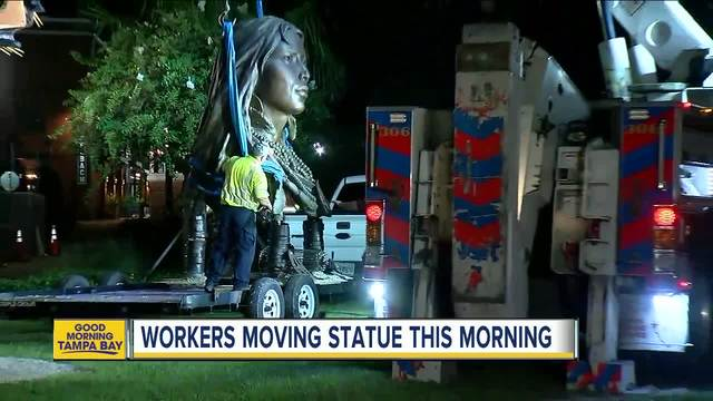Princess Ulele bust removed from Tampa Riverwalk
