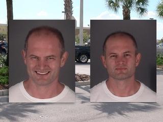 Man arrested in jail parking lot after release