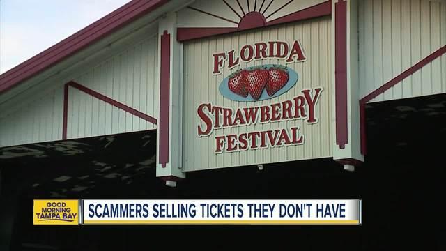 Organizers warn about Florida Strawberry Festival ticket scam