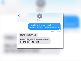 Turkey in microwave text prank goes viral