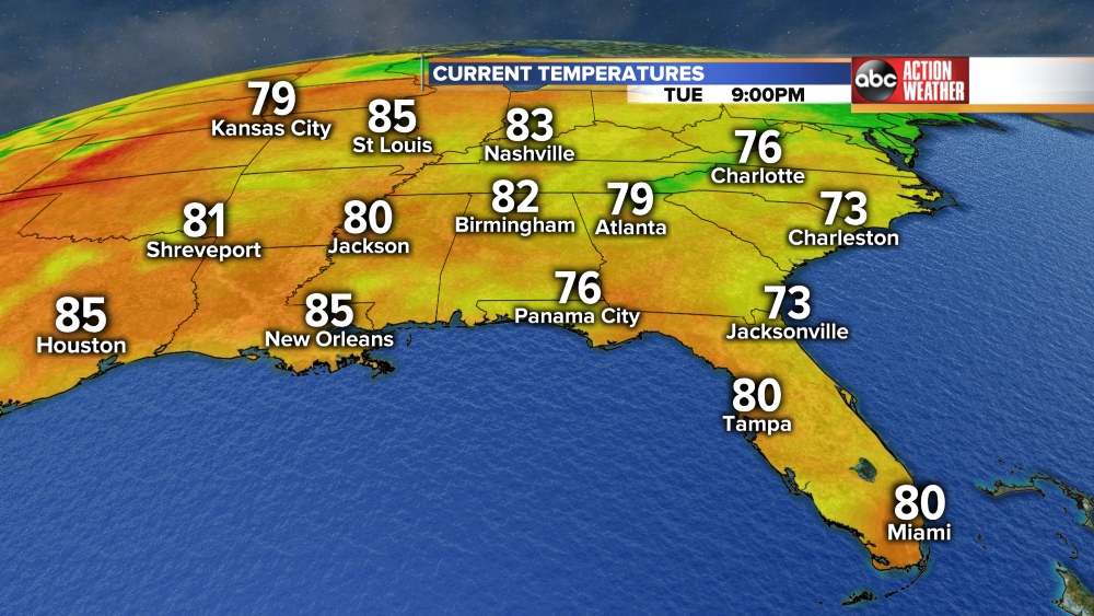 Southeast Temperatures