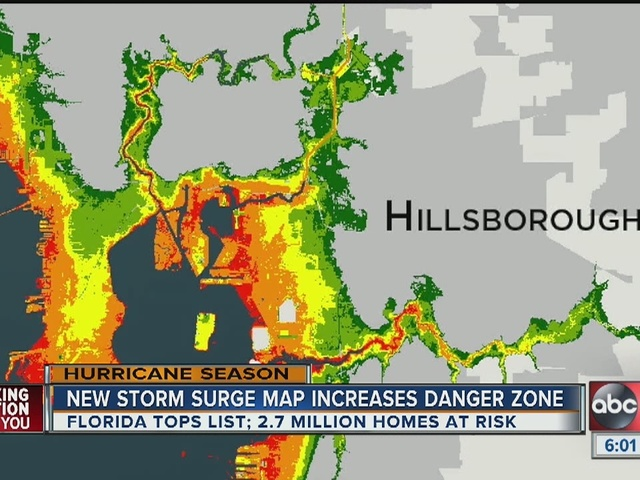 Maps Show Ta Bay's Storm Surge Vulnerability Abcactionnews: Pinellas County Flood Maps At Slyspyder.com