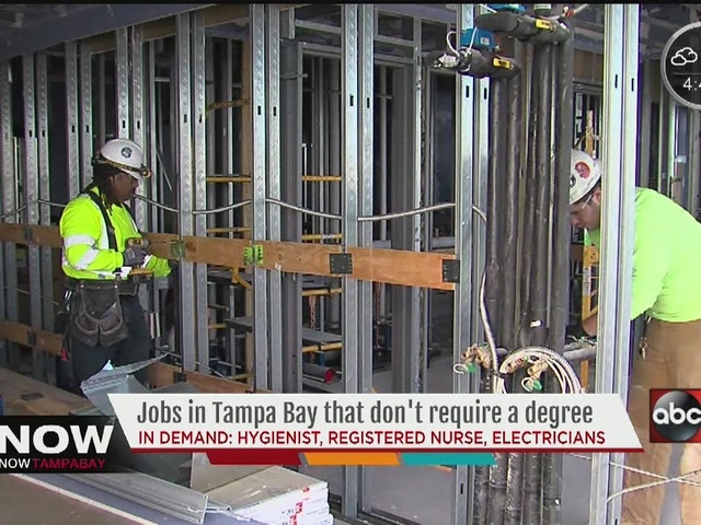 Best jobs that do not require a four-year degree in Tampa ...