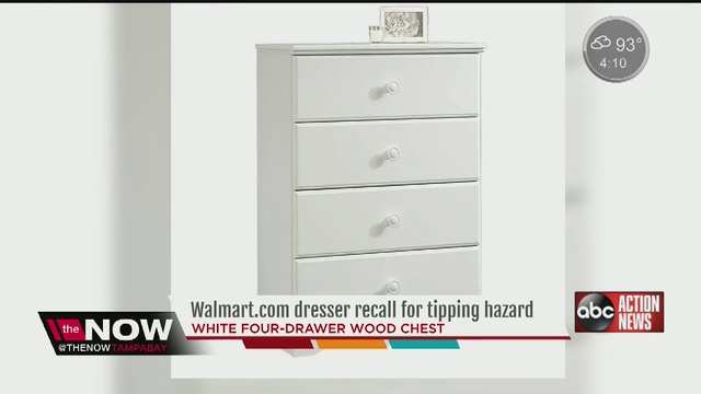 Recall Dresser Sold Through Online Recalled For Ility Hazard