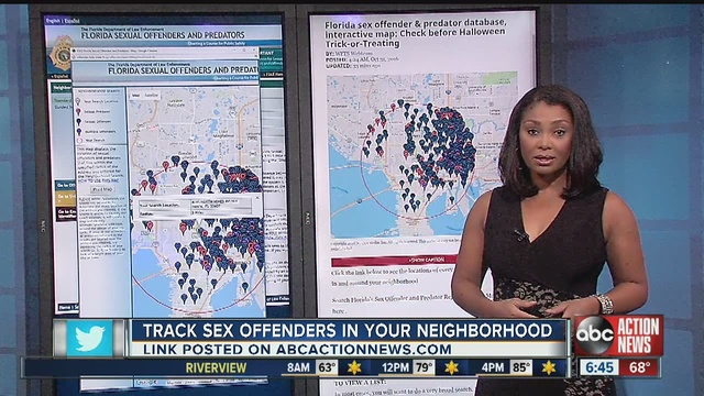 Find sex offenders in neighborhood