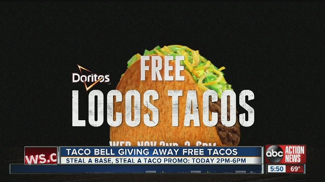 Taco Bell Offering Free Tacos Nationally Wednesday Abcactionnews Wfts Tv