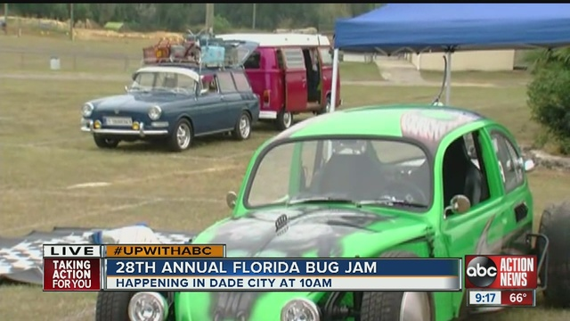 Florida Bug Jam Invades Dade City For Day Run Abcactionnewscom - Dade city fl car show