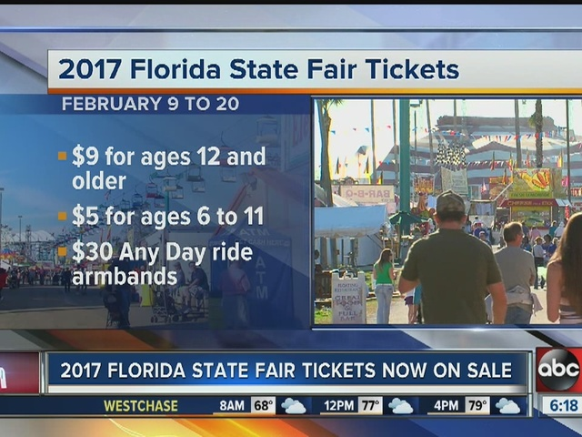 Gas Prices In Florida >> 2017 Florida State Fair tickets now on sale - abcactionnews.com WFTS-TV