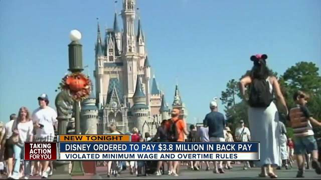 Disney Ordered To Pay Florida Workers 3 8 Million In Back