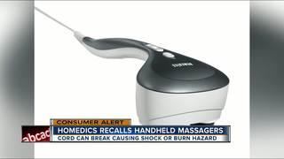 Homedics Recalls Massagers Due To Electric Shock Burn