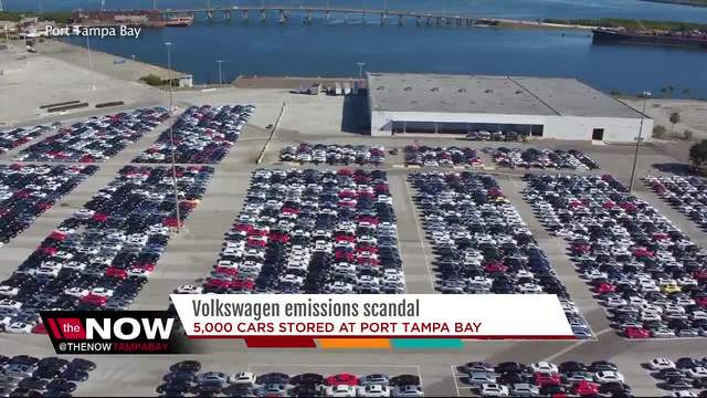 vw recalled cars sitting  port tampa bay abcactionnewscom wfts tv