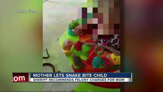 ... been sent to the State Attorney's Office for a Highlands county mother  after she posted a video to Facebook showing her 1-year-old daughter being  bitten ...