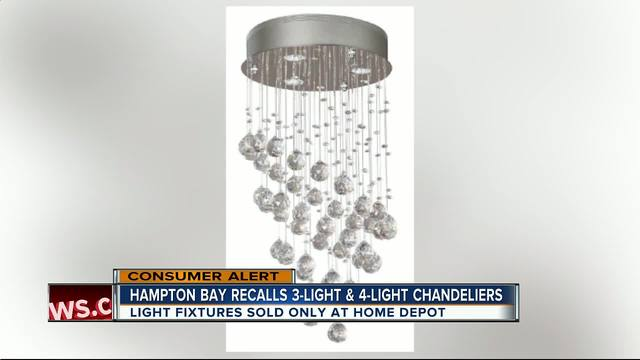 Crystal chandeliers sold exclusively at Home Depot recalled for burn ...