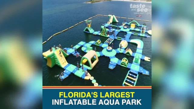 Check out Florida-s largest inflatable aqua park in Pasco County
