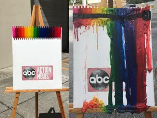 Photos: Crayon Melting Art in Tampa Bay heat