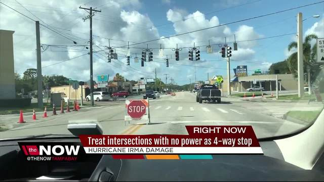 Many Traffic Signals Down In TheMan Tampa Bay Area Nice Look