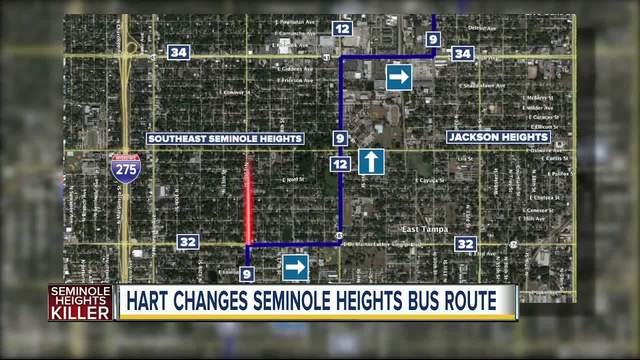 HART changing bus route in wake of Seminole Heights killings