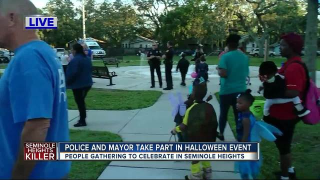 Trick-or-treating in Seminole Heights