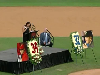 Tearful tribute honors former Roy Halladay