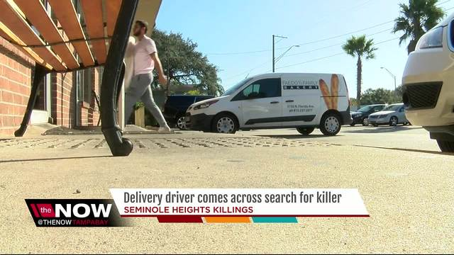 Delivery driver comes across search for killer