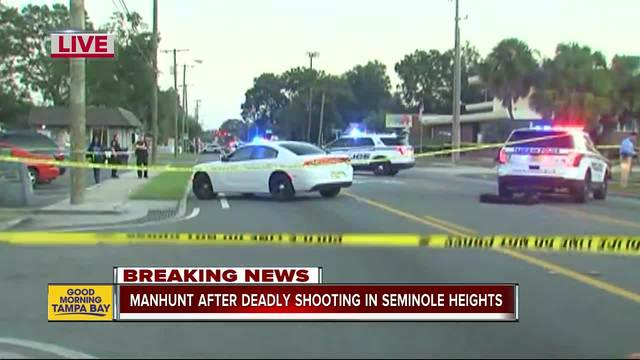 Manhunt underway in Seminole Heights after deadly shooting early Tuesday