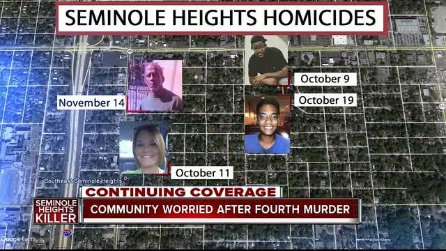 Seminole Heights on edge after fourth homicide- police and FBI search for killer