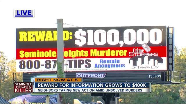 Seminole Heights reward increased to -100-000